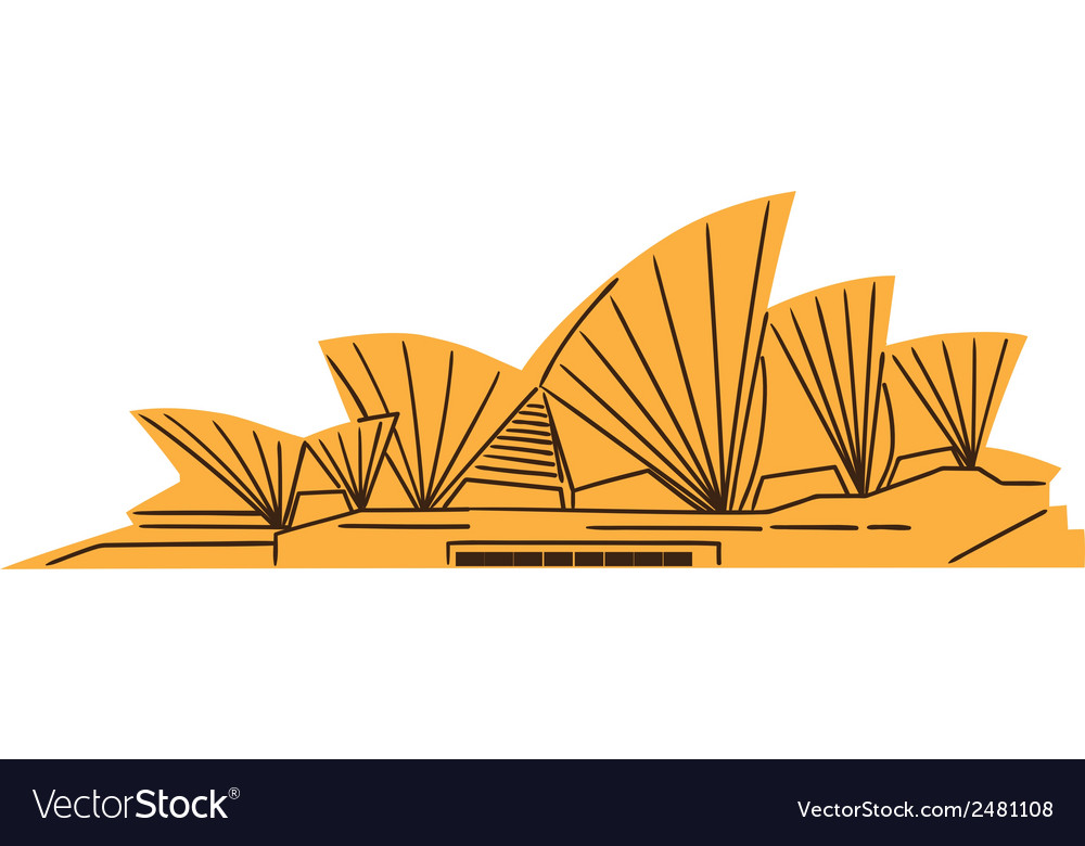 The sydney opera house isolated on white vector | Price: 1 Credit (USD $1)