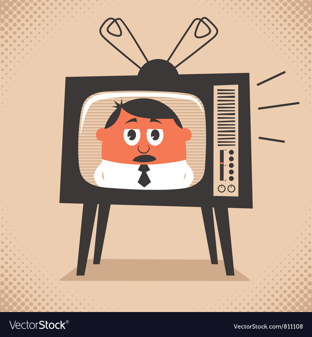 Tv news vector | Price: 3 Credit (USD $3)