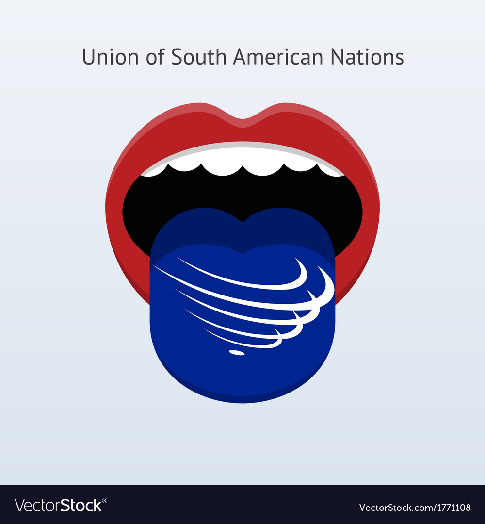 Union of south american nations language abstract vector | Price: 1 Credit (USD $1)