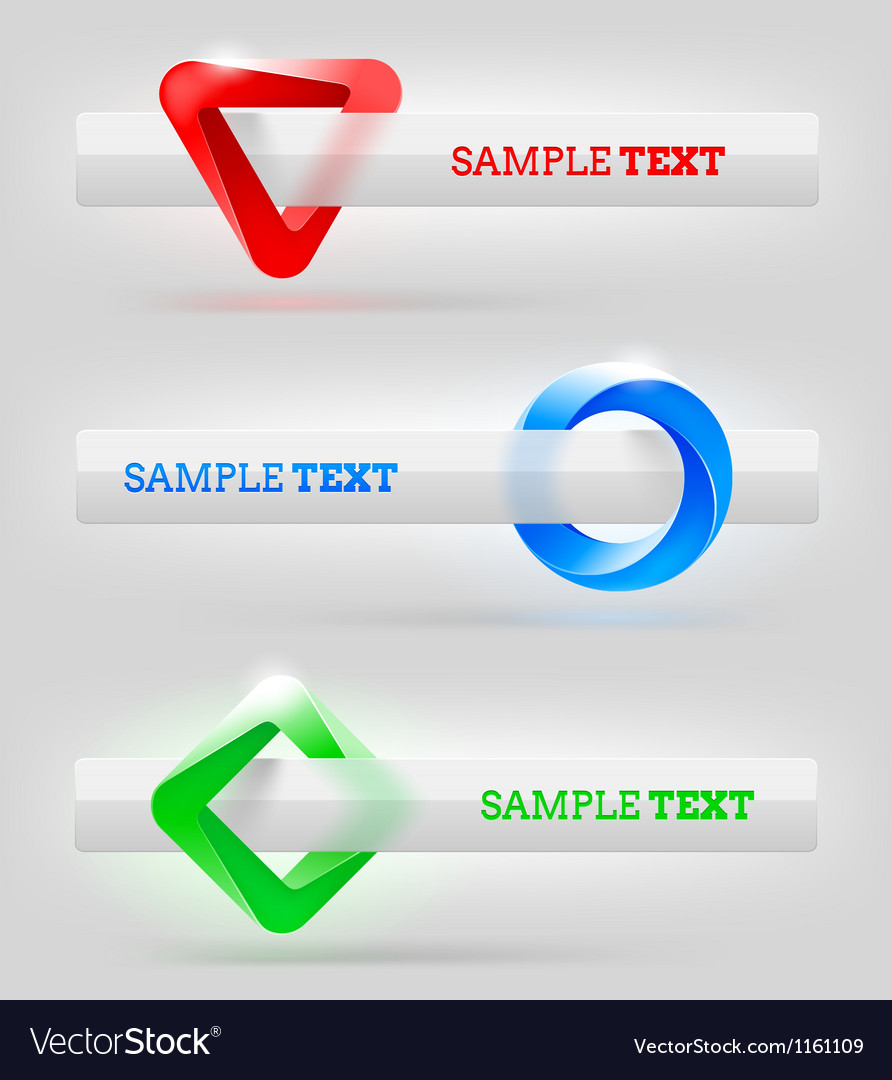 Abstract shapes and banners for message or text vector | Price: 1 Credit (USD $1)