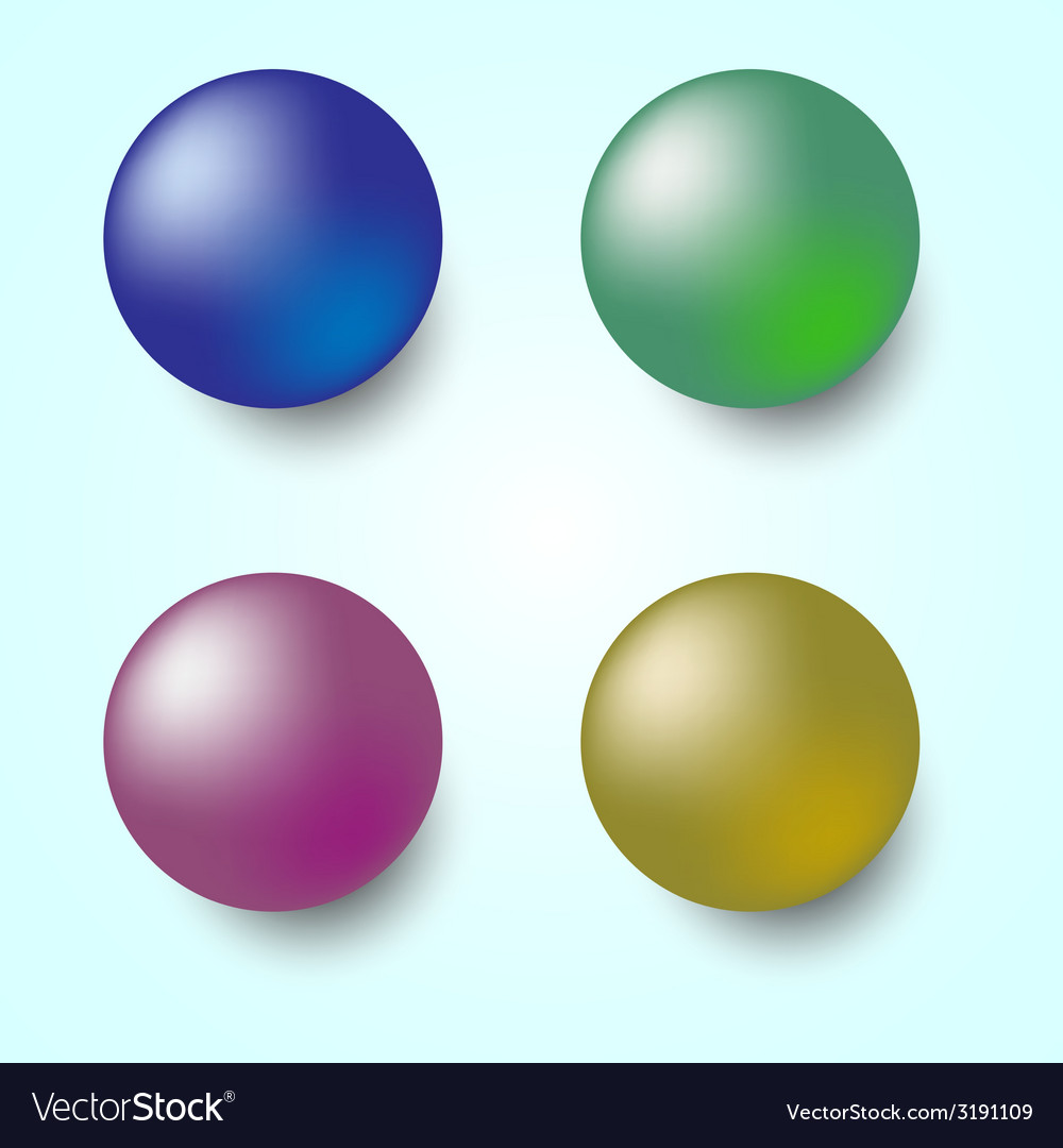 Colorful 3d sphere isolated on white background vector | Price: 1 Credit (USD $1)