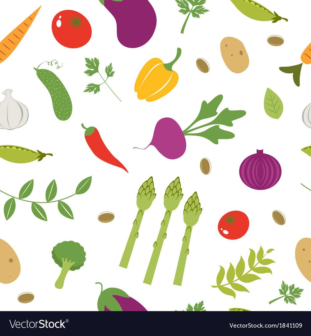 Farm vegetables pattern vector | Price: 1 Credit (USD $1)