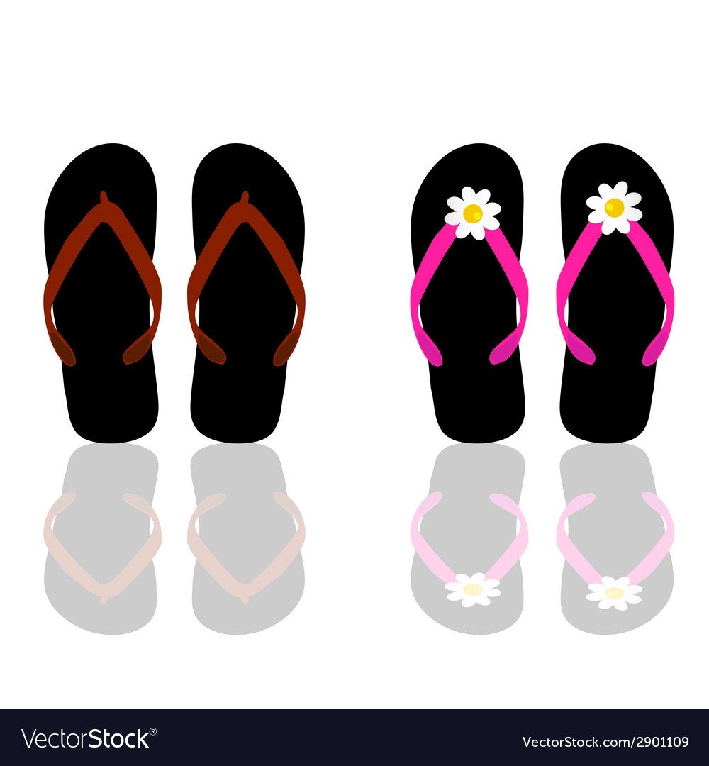 Flip flop for beach for man and woman vector | Price: 1 Credit (USD $1)