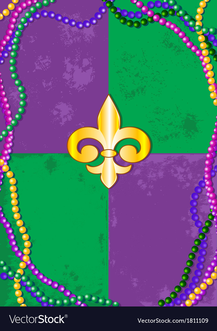 Mardi gras background vector | Price: 1 Credit (USD $1)