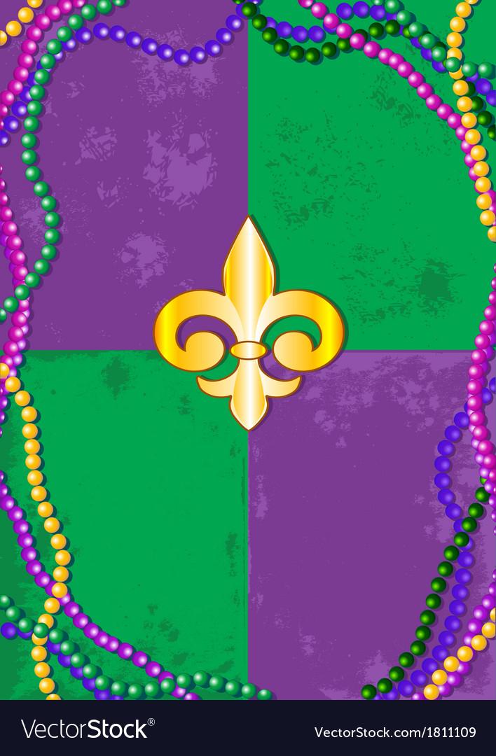 Mardi gras background vector | Price: 1 Credit (USD $1)
