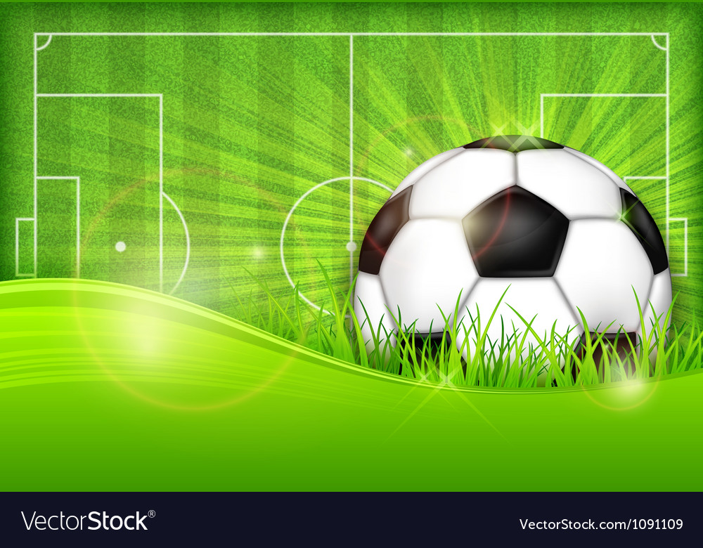 Playing field ball green background ball grass vector | Price: 3 Credit (USD $3)