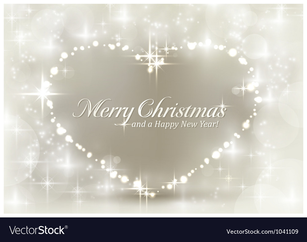 Silver sparkling christmas heart vector | Price: 1 Credit (USD $1)