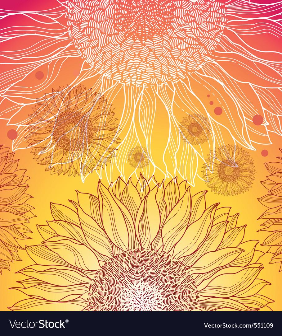 Summer flower background vector   Price: 1 Credit (USD $1)
