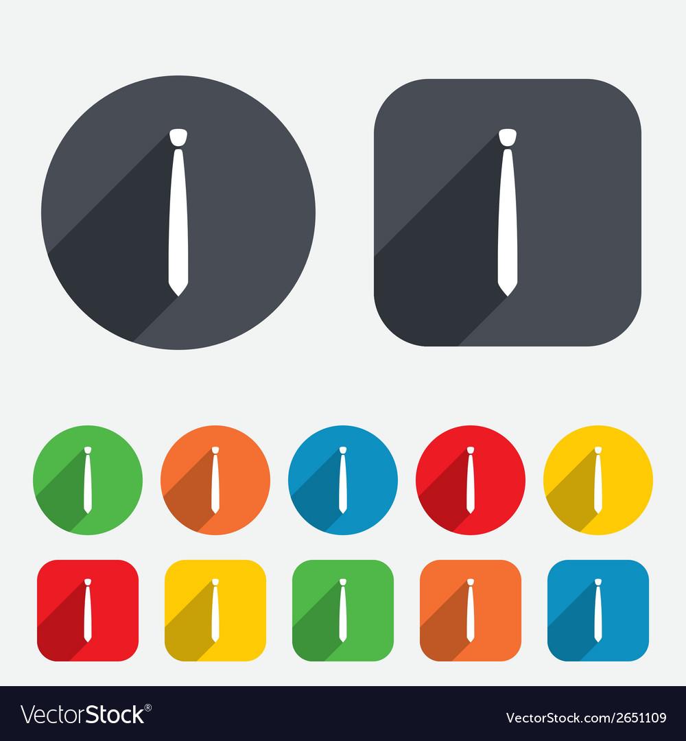 Tie slim sign icon business clothes symbol vector   Price: 1 Credit (USD $1)