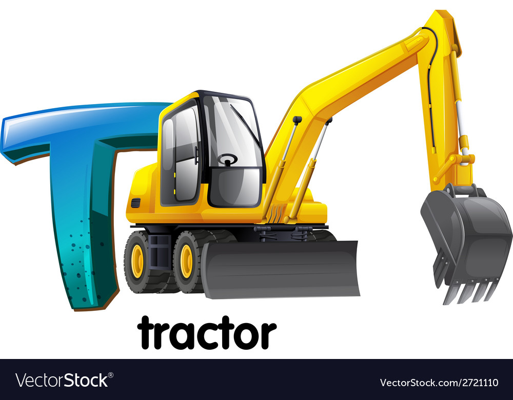 A letter t for tractor vector | Price: 1 Credit (USD $1)