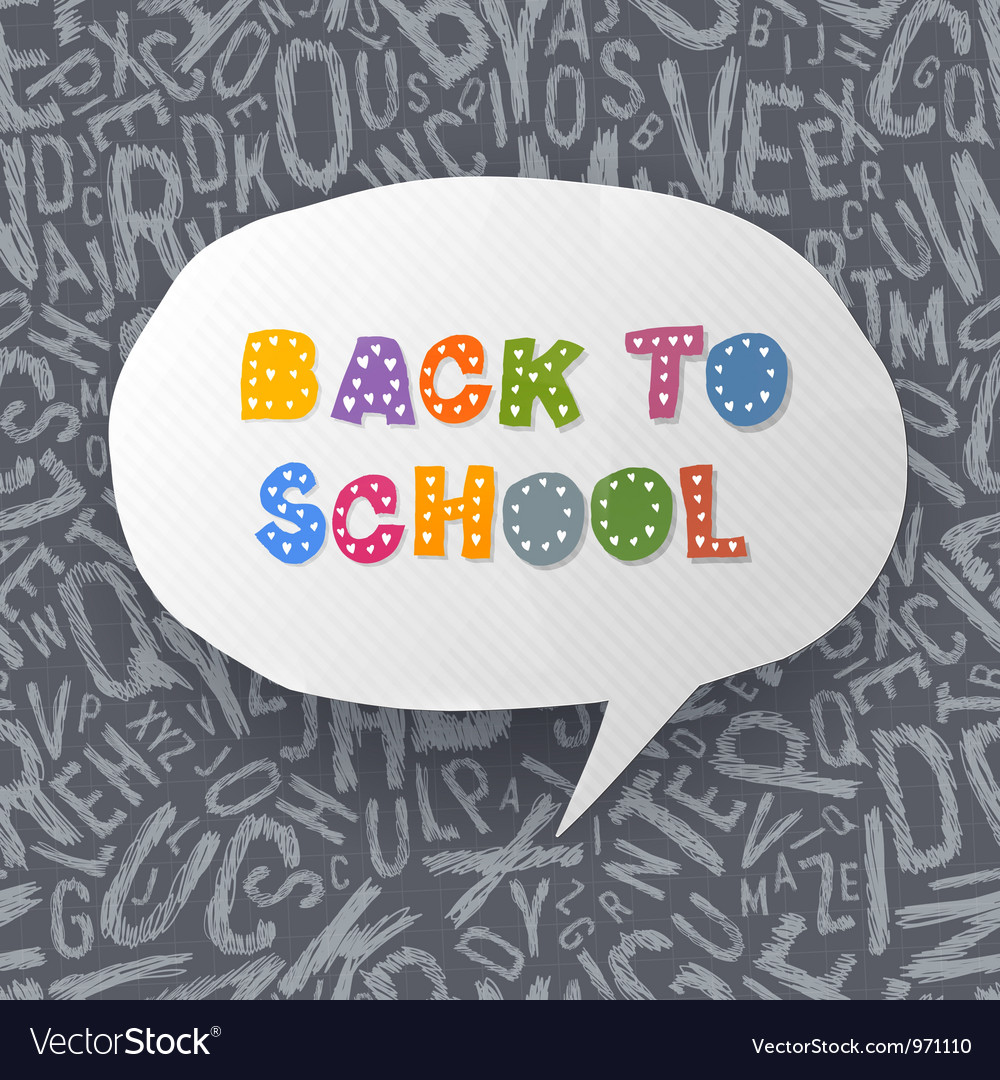 Back to school abstract background vector | Price: 1 Credit (USD $1)