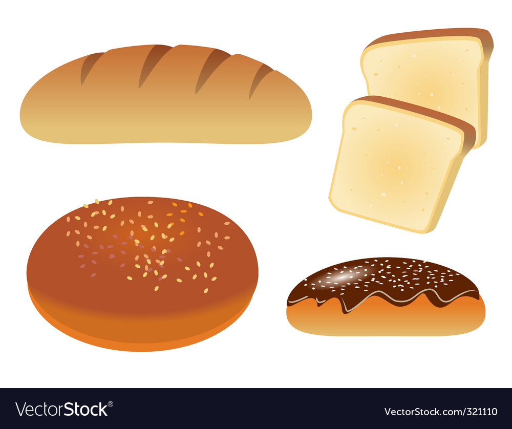 Bread icons vector | Price: 1 Credit (USD $1)
