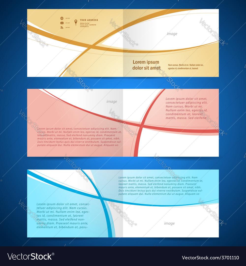 Brochure design template booklet album curve line vector | Price: 1 Credit (USD $1)