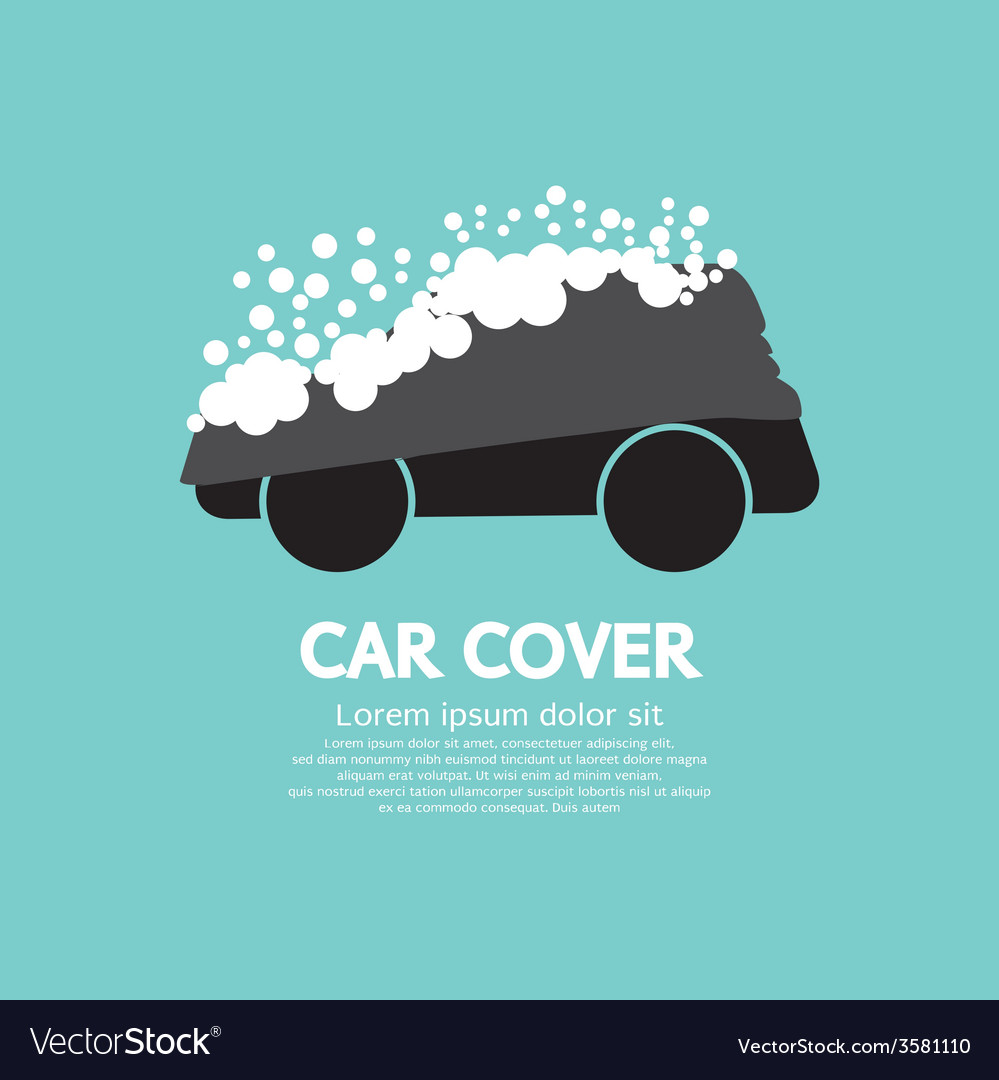 Car cover with snow graphic vector | Price: 1 Credit (USD $1)