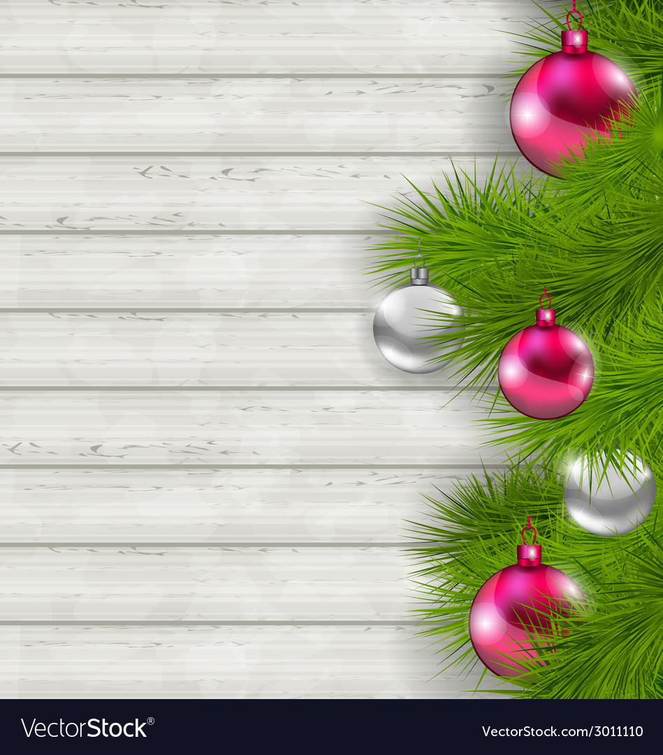 Christmas composition with glass hanging balls and vector | Price: 1 Credit (USD $1)