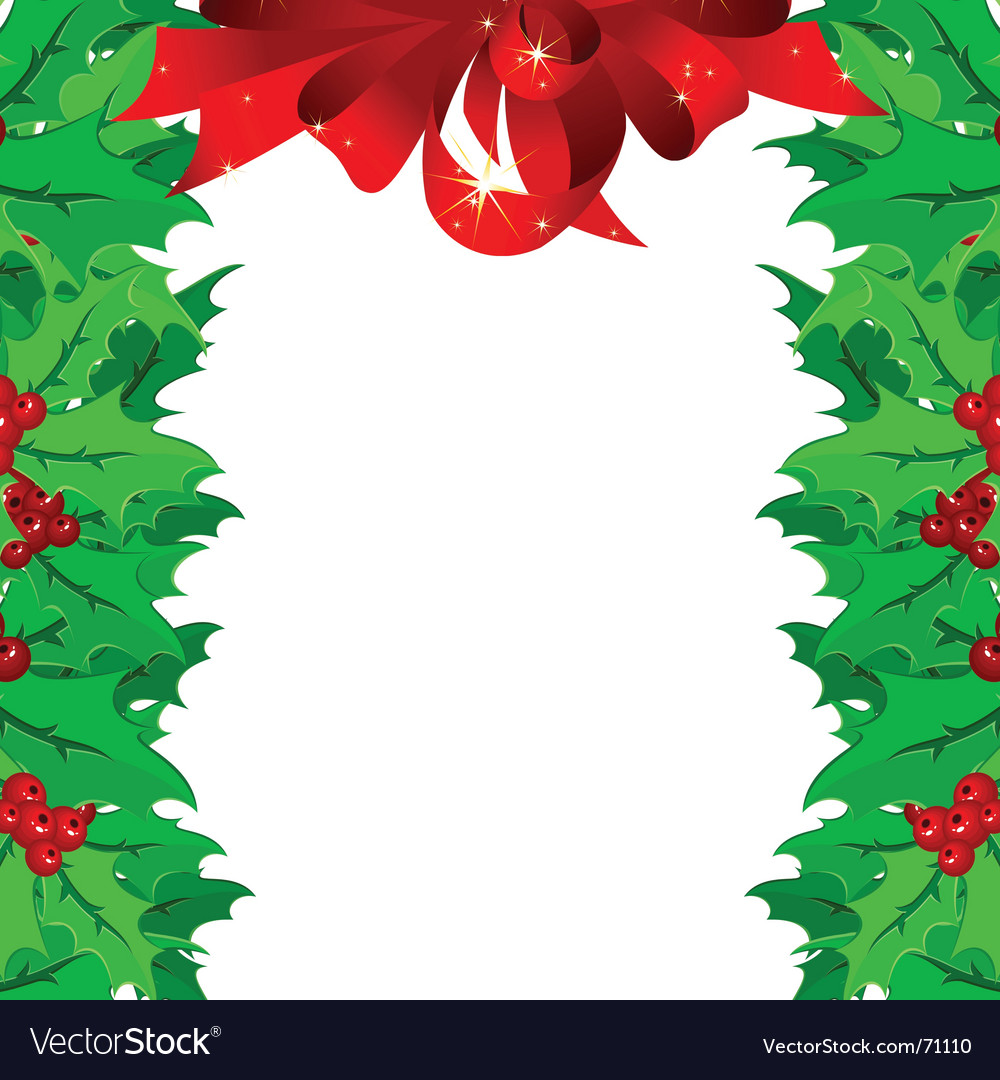 Christmas garnish frame vector | Price: 1 Credit (USD $1)