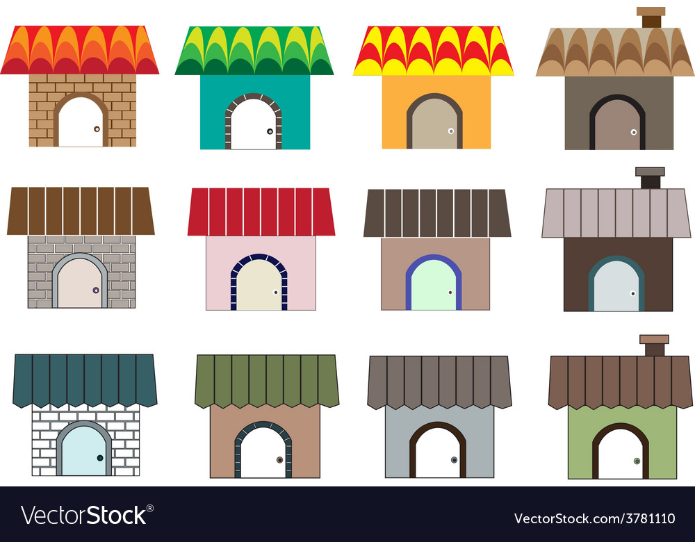 Different home styles1 01 vector | Price: 1 Credit (USD $1)