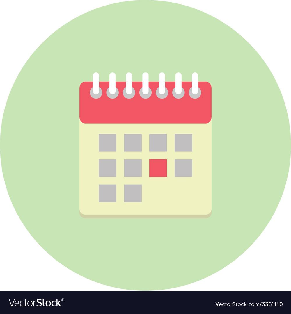 Flat style calendar icon vector | Price: 1 Credit (USD $1)
