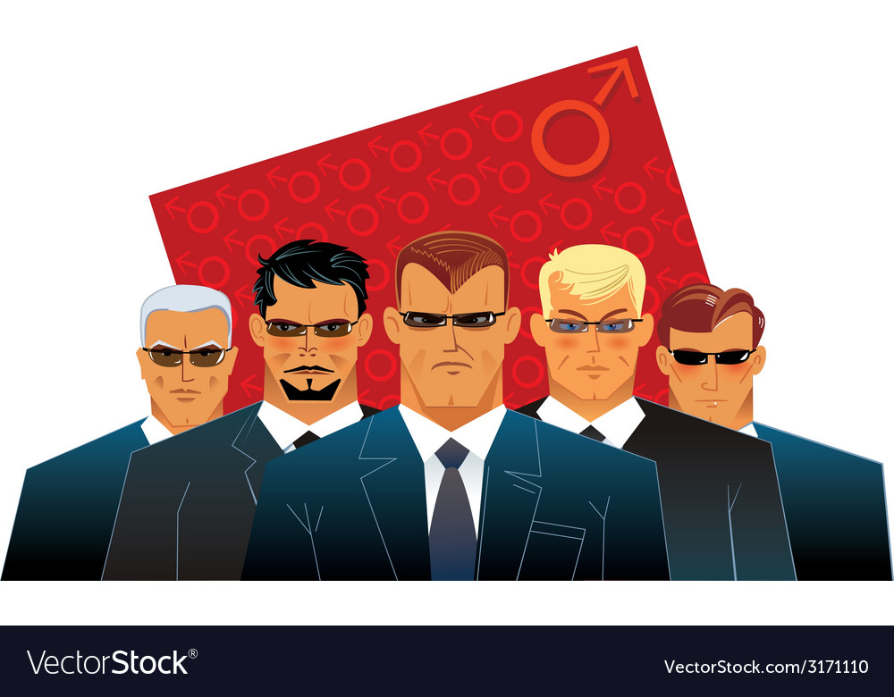 Group men vector | Price: 1 Credit (USD $1)