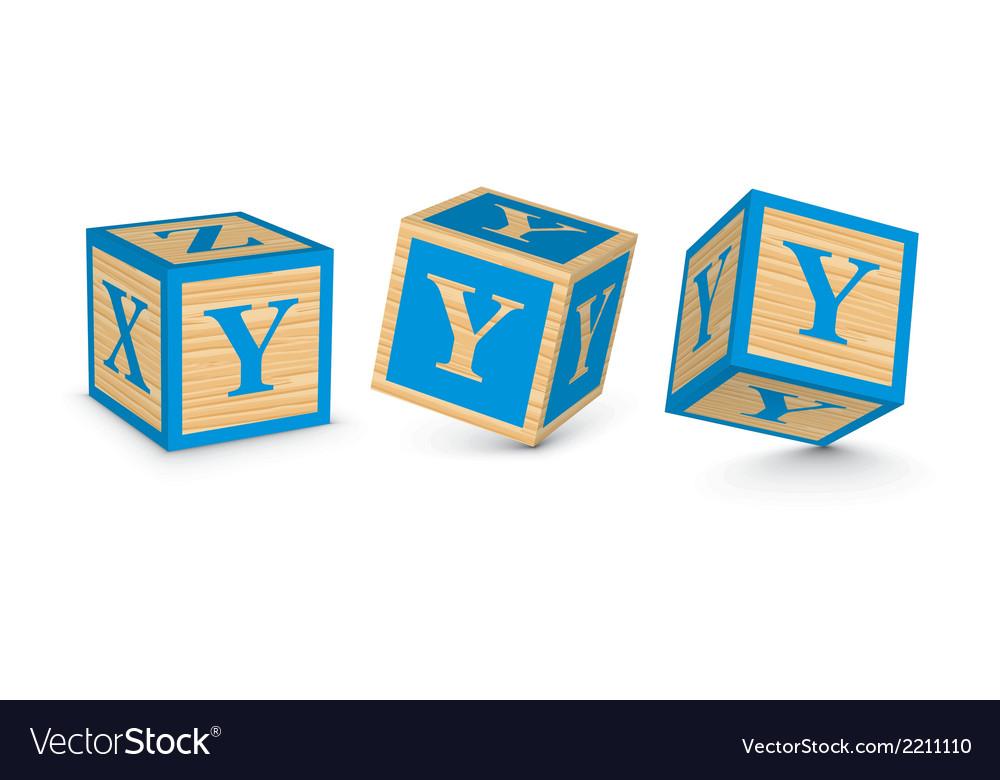Letter y wooden alphabet blocks vector | Price: 1 Credit (USD $1)