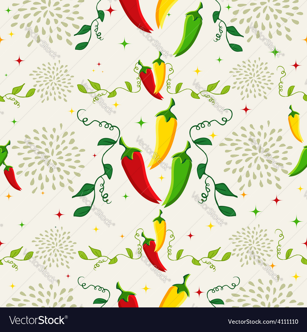 Mexican chili pepper pattern vector | Price: 1 Credit (USD $1)
