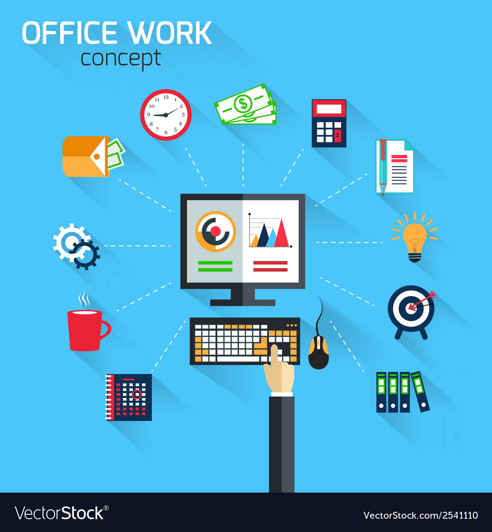 Office work concept vector | Price: 1 Credit (USD $1)