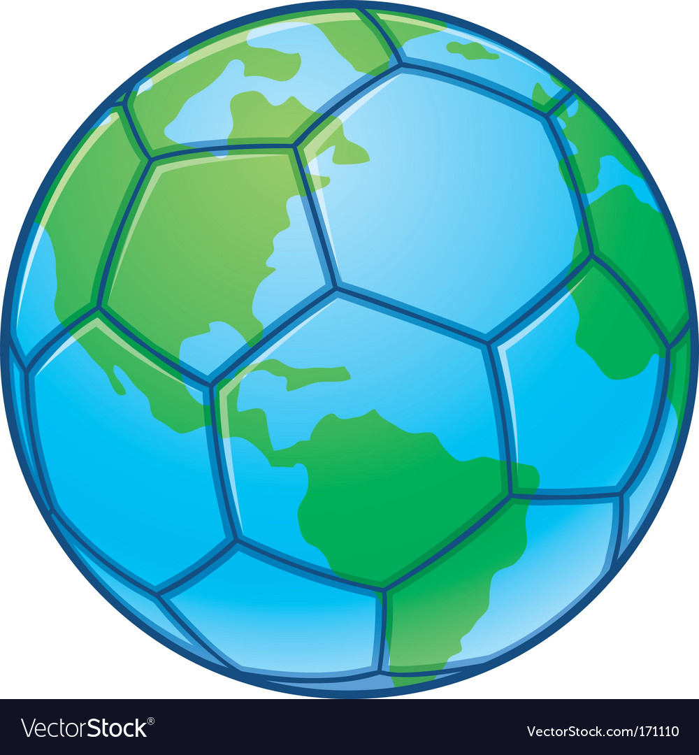 Planet earth soccer ball vector | Price: 1 Credit (USD $1)