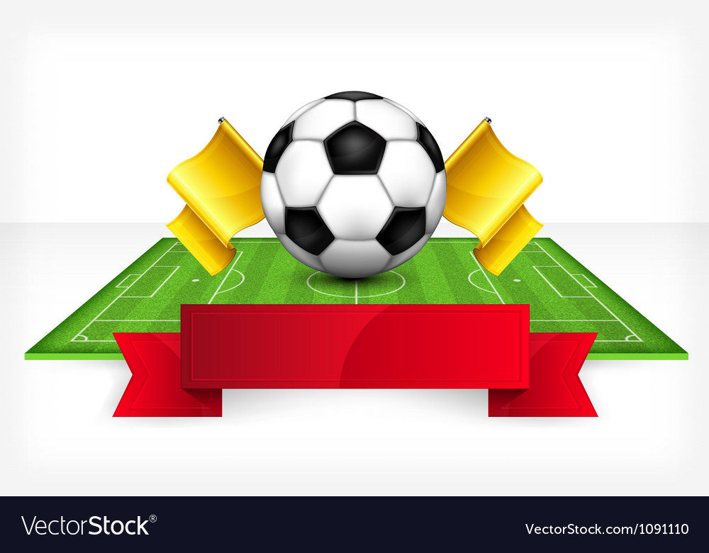 Playing field ball white background 10 v vector | Price: 1 Credit (USD $1)