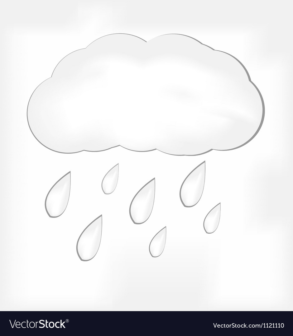 Rain cloud vector | Price: 1 Credit (USD $1)