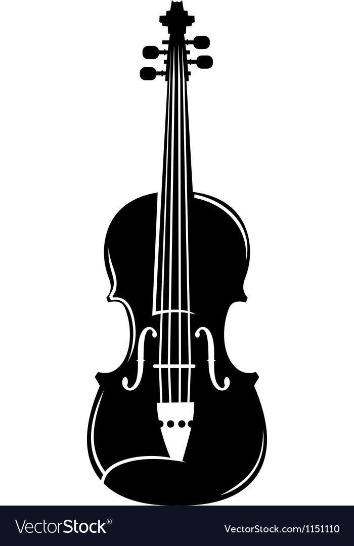 Violin silhouette vector | Price: 1 Credit (USD $1)
