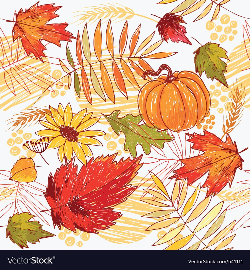 Autumn pattern vector | Price: 3 Credit (USD $3)