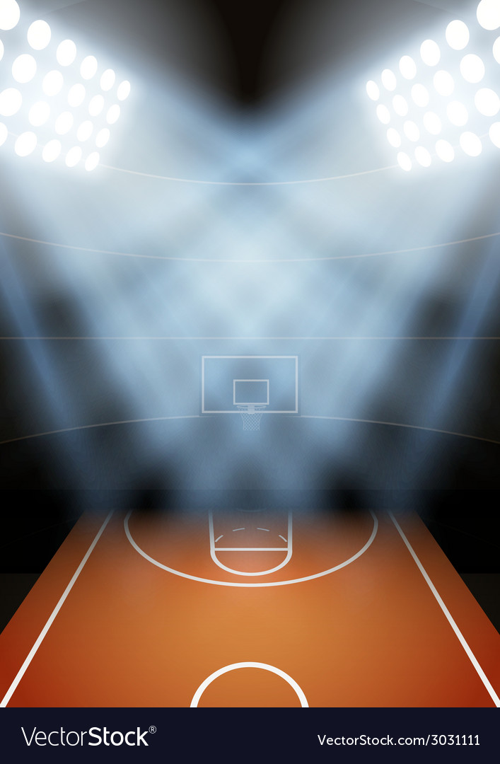 Background for posters night basketball stadium in vector | Price: 1 Credit (USD $1)