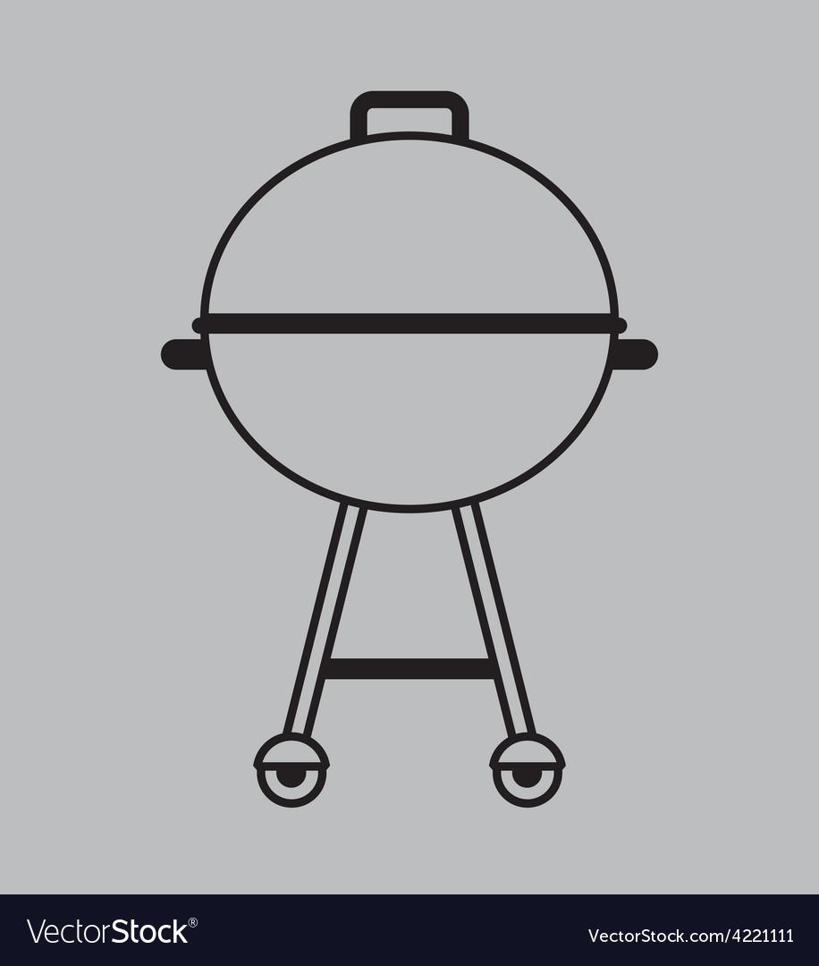 Bbq icon vector | Price: 1 Credit (USD $1)