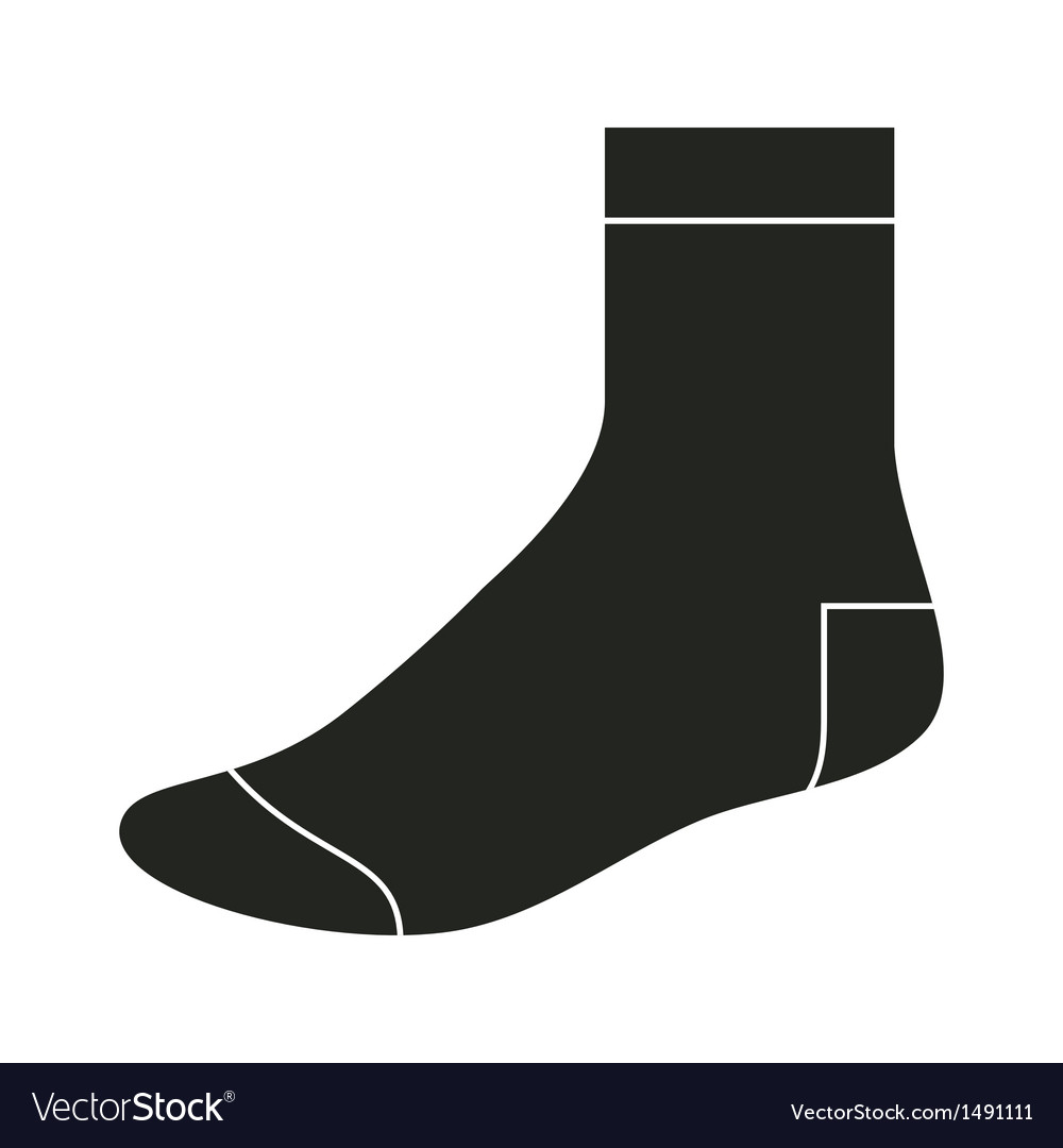 Black sock template vector | Price: 1 Credit (USD $1)