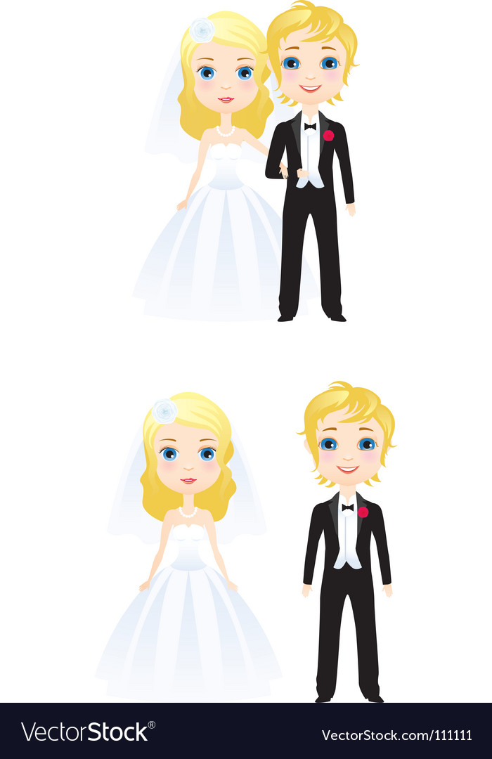 The bride and groom vector | Price: 1 Credit (USD $1)