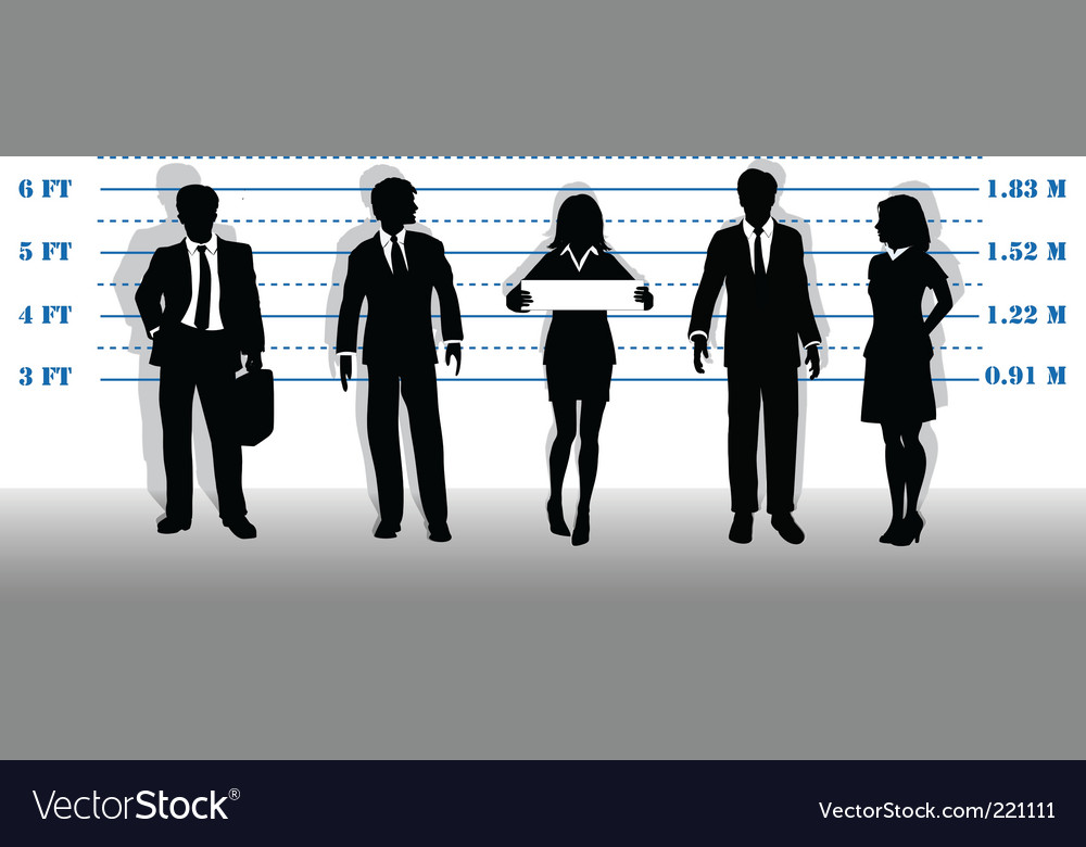 Business people lineup vector | Price: 1 Credit (USD $1)