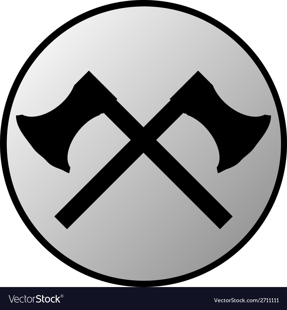 Crossed axes button vector | Price: 1 Credit (USD $1)