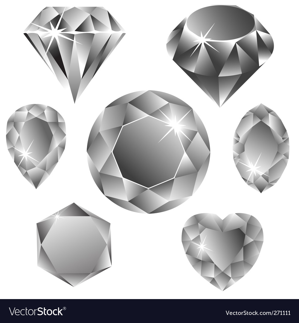 Diamonds collection vector | Price: 1 Credit (USD $1)