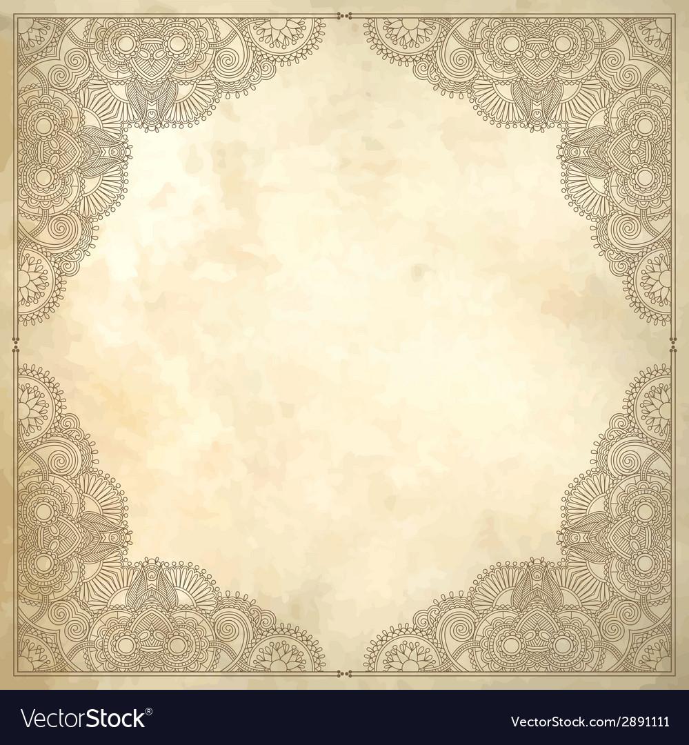 Flower design on grunge background vector | Price: 1 Credit (USD $1)