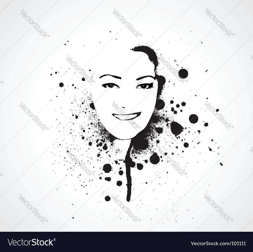 Grunge girl face vector | Price: 1 Credit (USD $1)