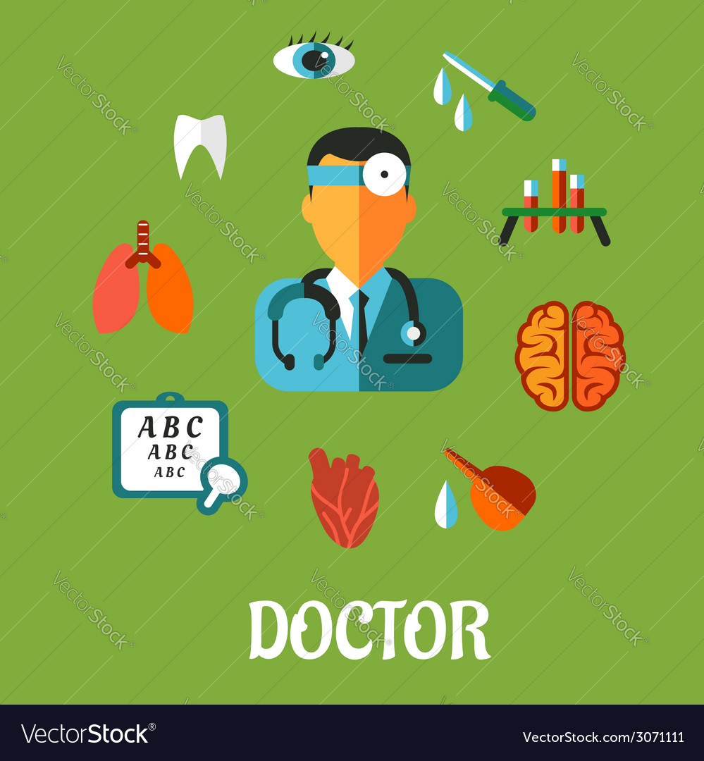 Medical flat infographic concept vector | Price: 1 Credit (USD $1)