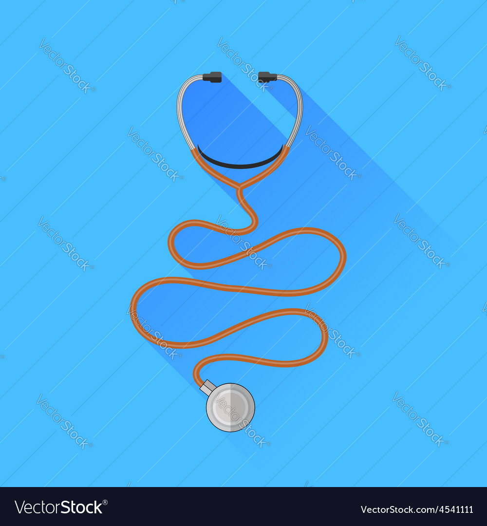 Medical stethoscope icon vector | Price: 1 Credit (USD $1)
