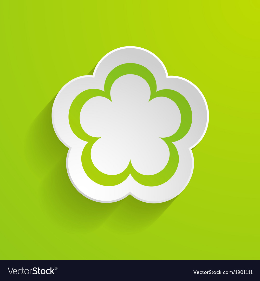 Paper flower on the green background vector | Price: 1 Credit (USD $1)