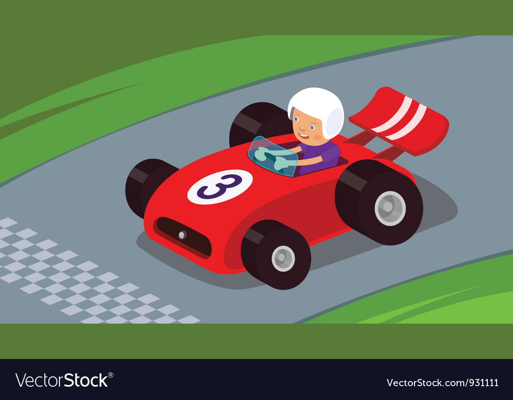 Race car vector | Price: 3 Credit (USD $3)