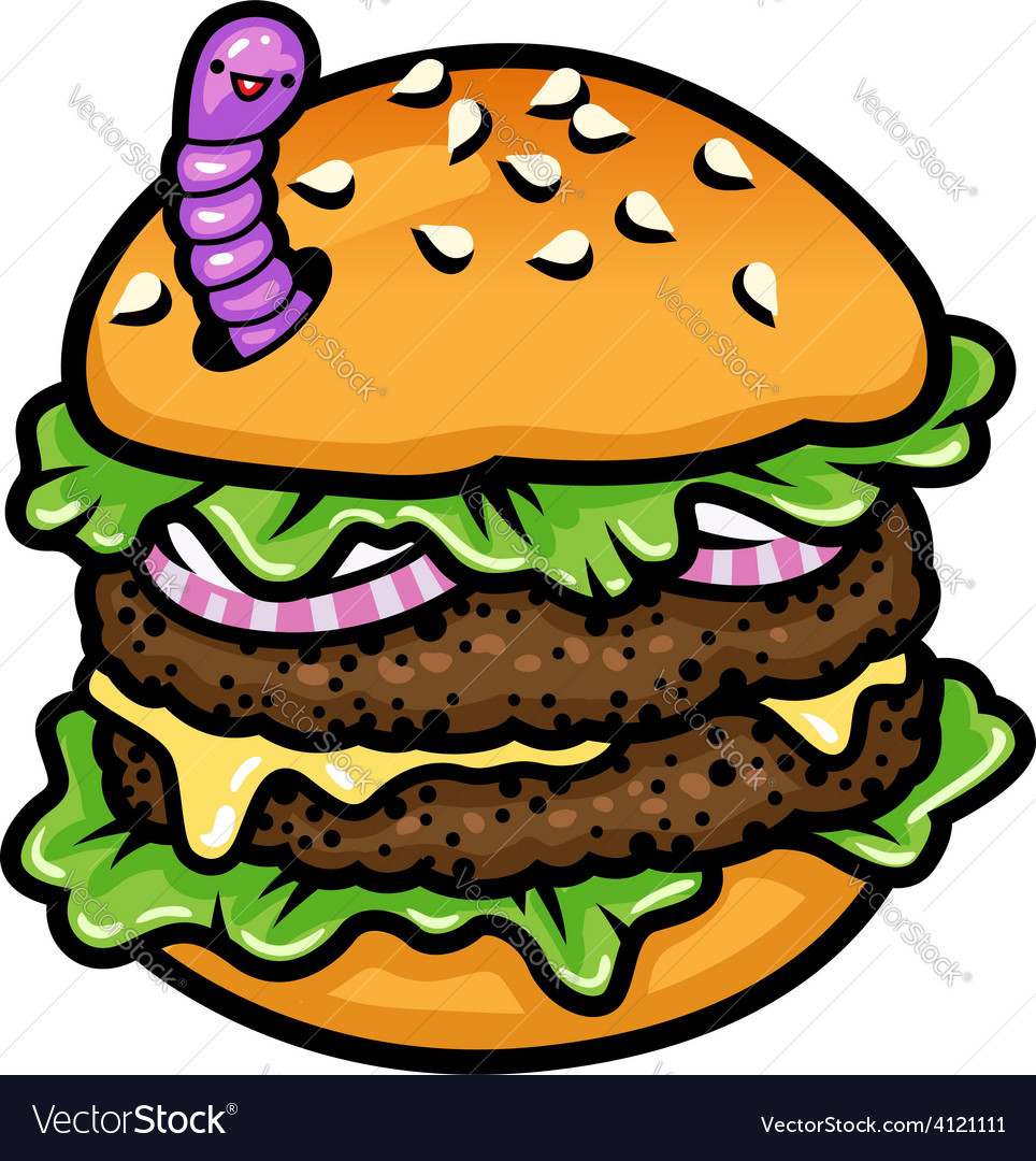 Sandwich worm vector | Price: 1 Credit (USD $1)