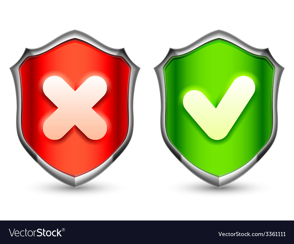 Security shields vector