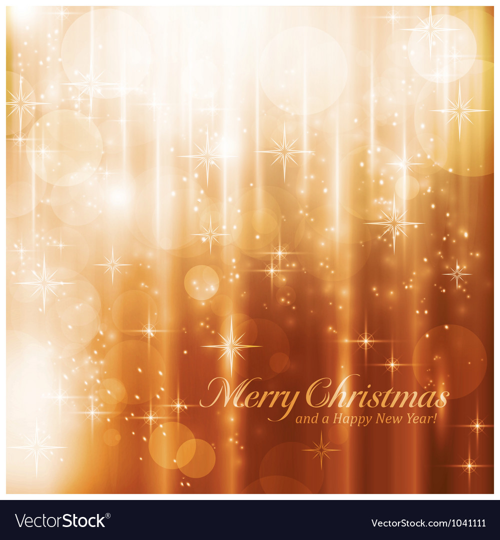 Sparkling lights and stars christmas card vector | Price: 1 Credit (USD $1)