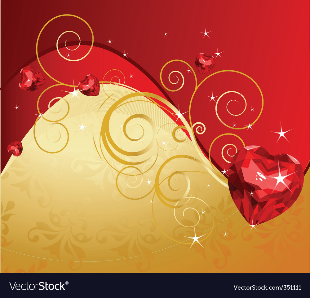 Valentine's day background vector | Price: 3 Credit (USD $3)