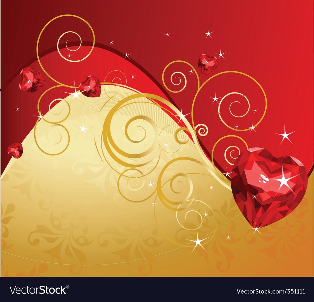 Valentine's day background vector | Price: 3 Credit (USD $3)