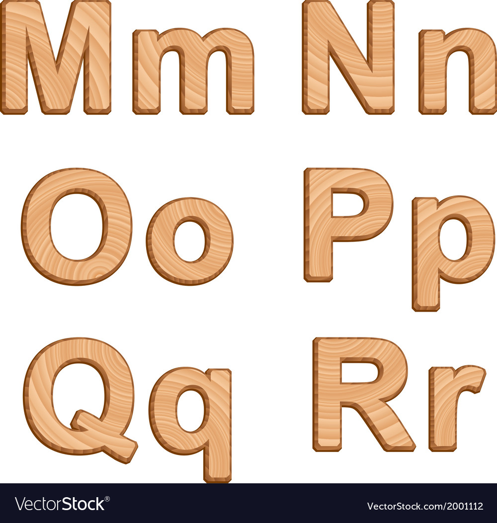 Alphabet with texture of wood vector | Price: 1 Credit (USD $1)
